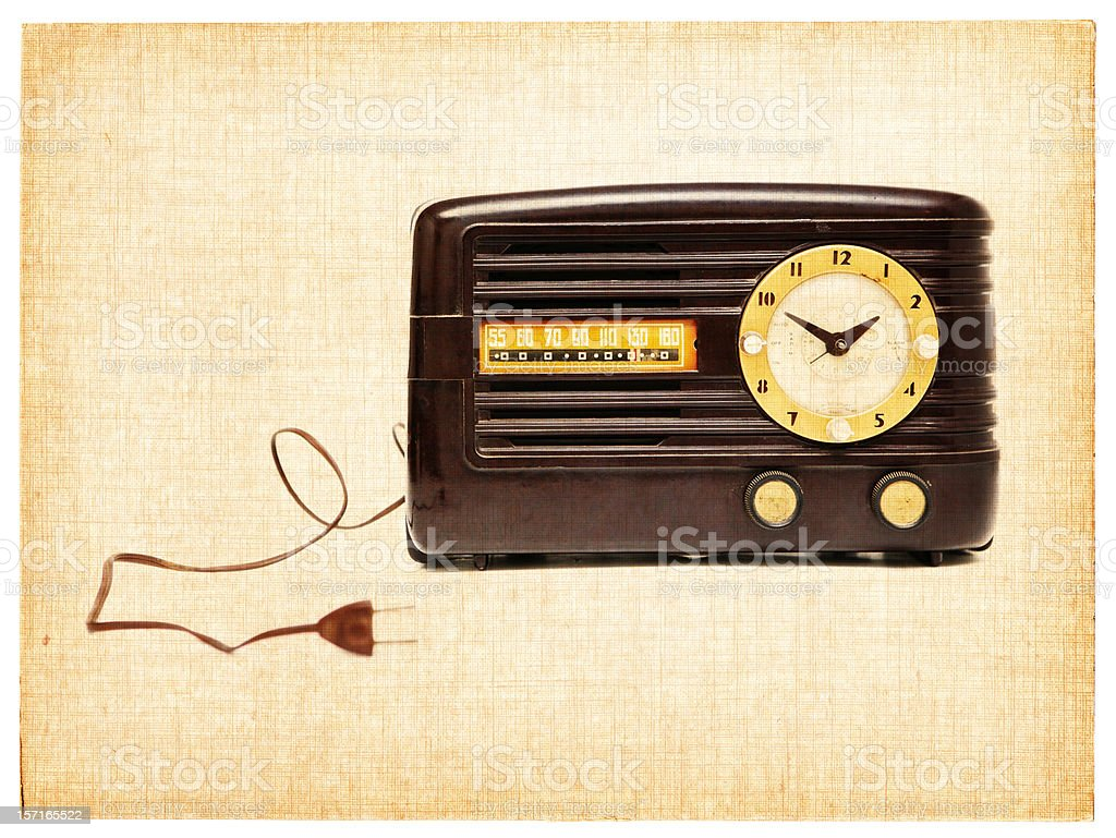 Vintage Clock Radio royalty-free stock photo