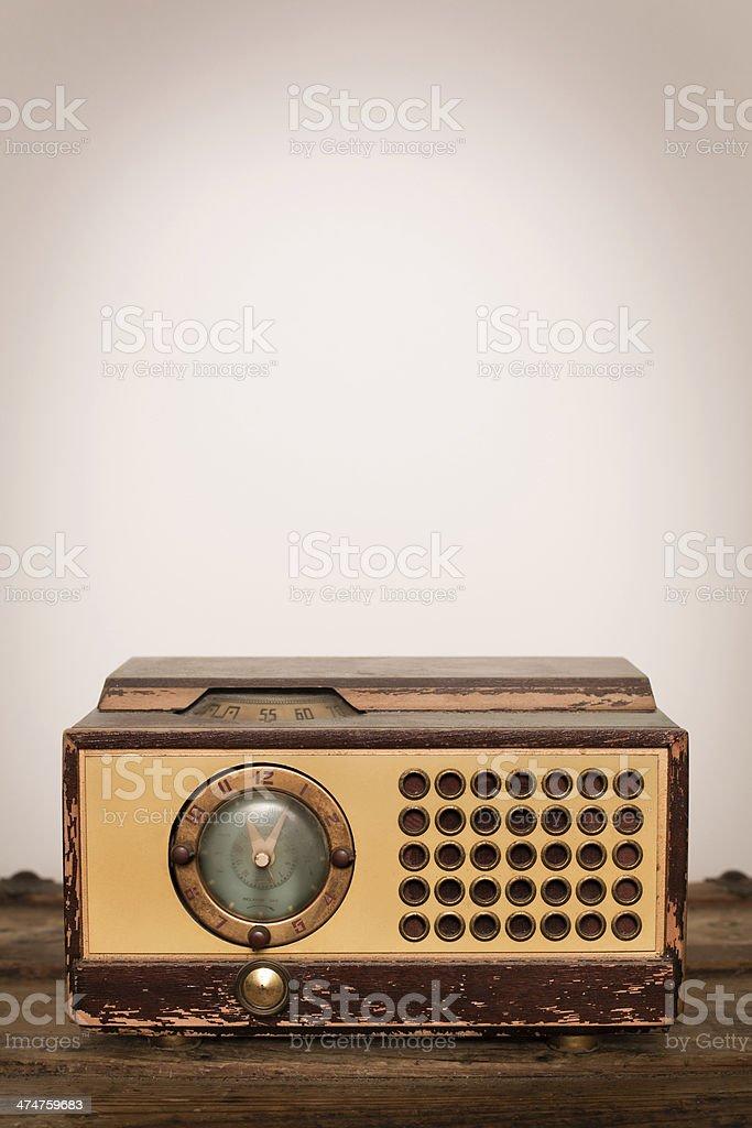 Vintage Clock Radio, With Copy Space stock photo
