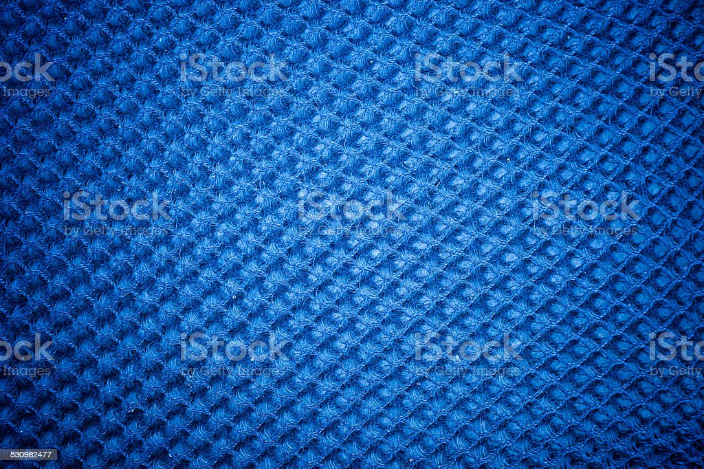 Vintage cloth cover with a blue screen pattern stock photo