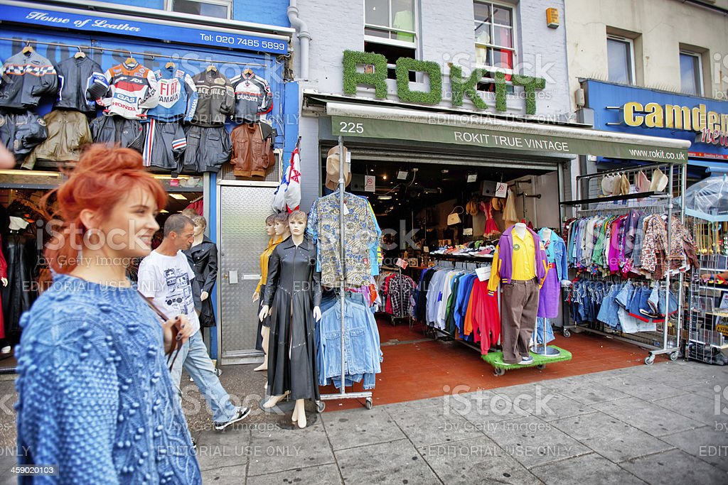 vintage clothing store in camden town uk stock photo istock