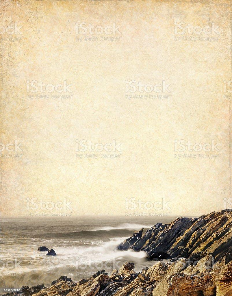 Vintage Coastline royalty-free stock photo