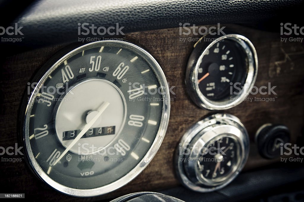 Vintage cockpit, speedometer royalty-free stock photo