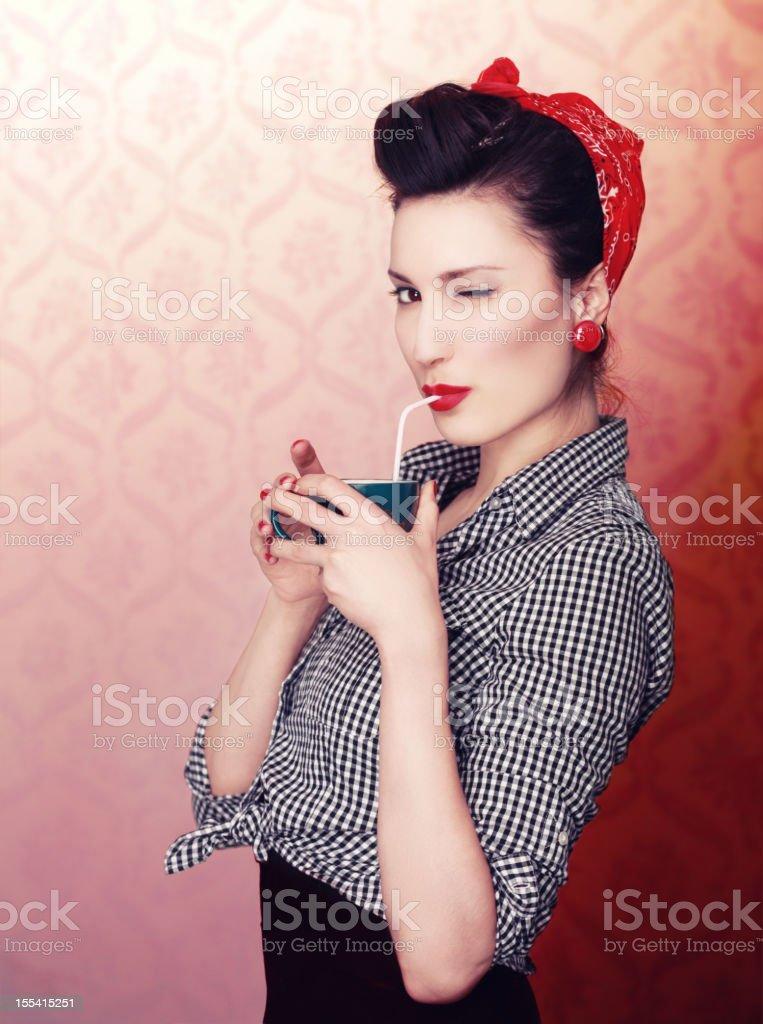 Vintage Coffee Time royalty-free stock photo