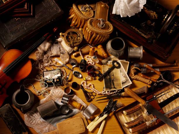 vintage collectables - besteck günstig stock-fotos und bilder