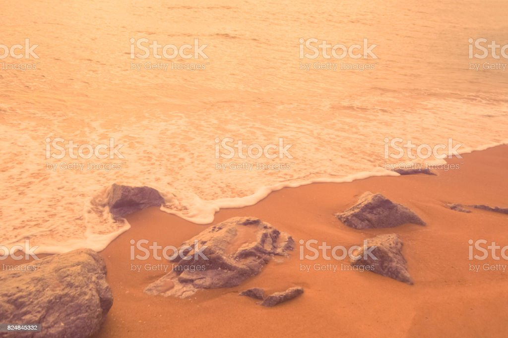 vintage color of beach scene background stock photo istock