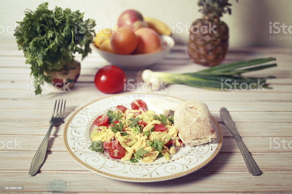 Vintage colored healthy meal royalty-free stock photo