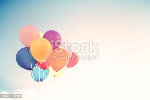 istock Vintage colorful balloon 1097186282