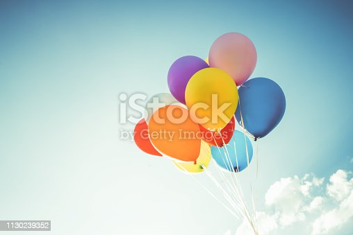 istock Vintage colorful balloon 1130239352
