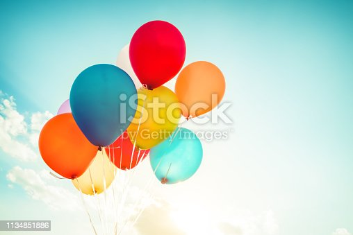 istock Vintage colorful balloon 1134851886
