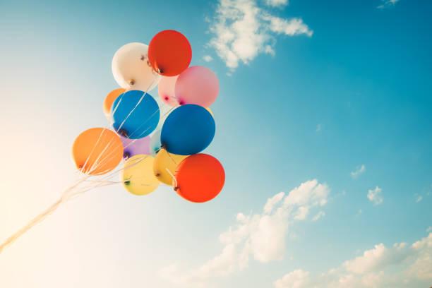 Vintage-Bbunte Ballon – Foto