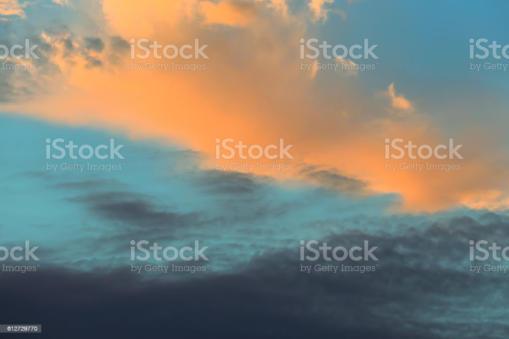Vintage colorful clouds background stock photo