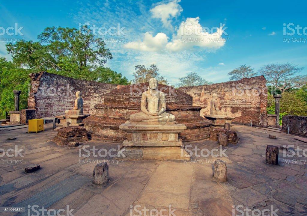 Effet Vintage couleur de Polonnaruwa antique Vatadage - Photo