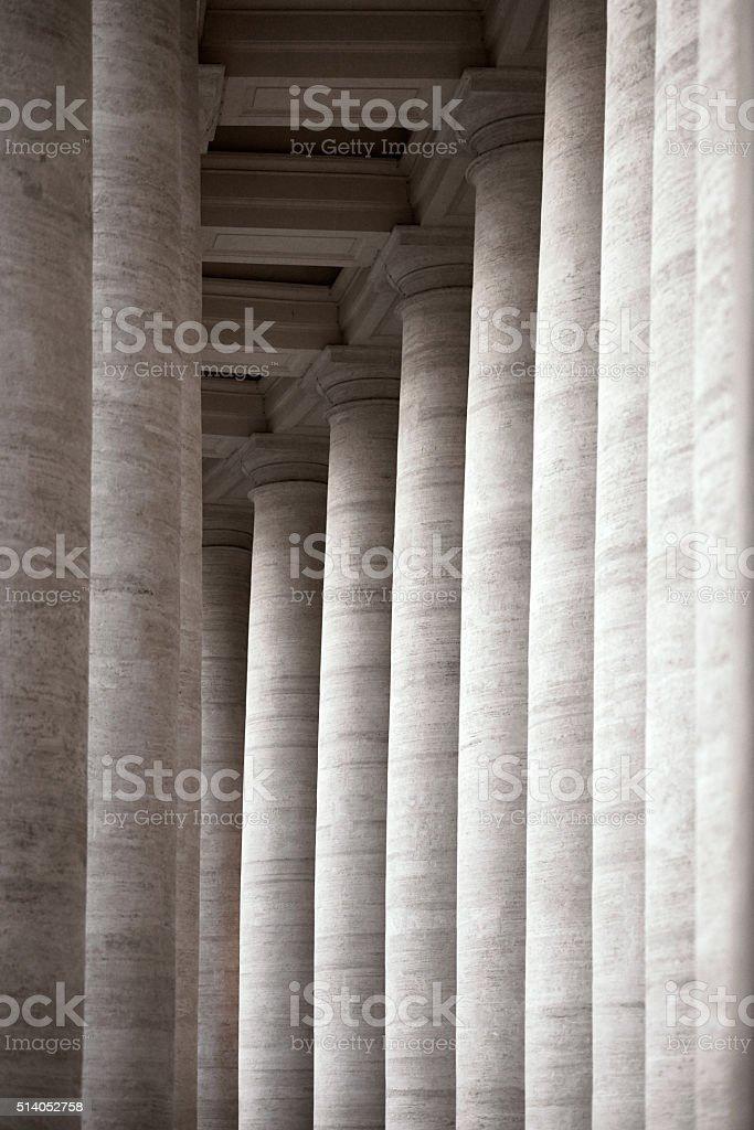 vintage columns stock photo