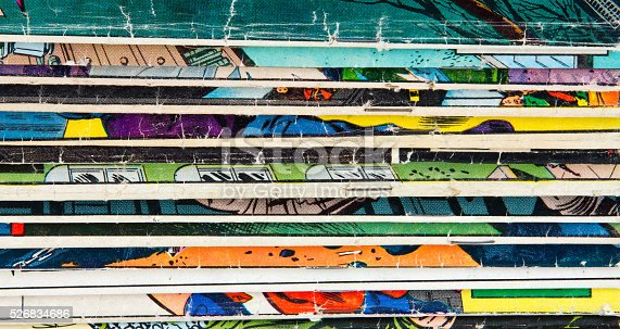 istock Vintage Comic Book Background Texture 526834686