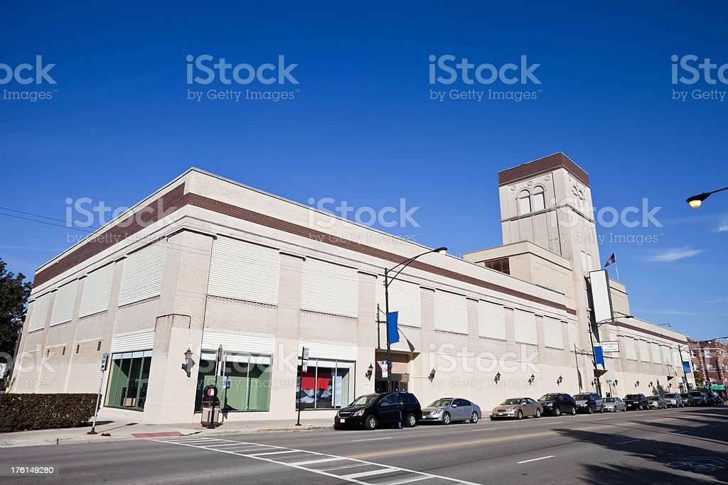 Vintage Commercial Building in Chicago royalty-free stock photo