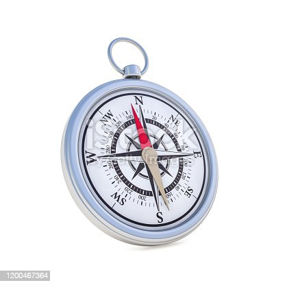 187602778 istock photo Vintage compass isolated on white background. 3D 1200467364
