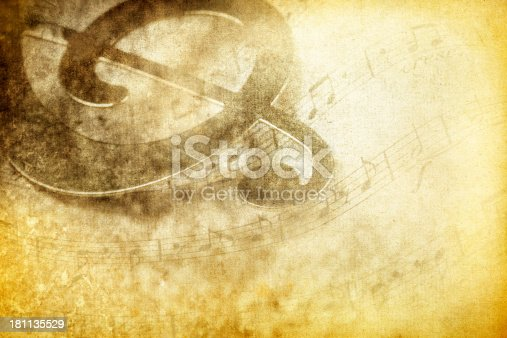 Vintage Composition Background With Treble Clef