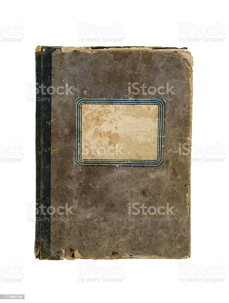 Vintage Composition Notebook - Cover stock photo