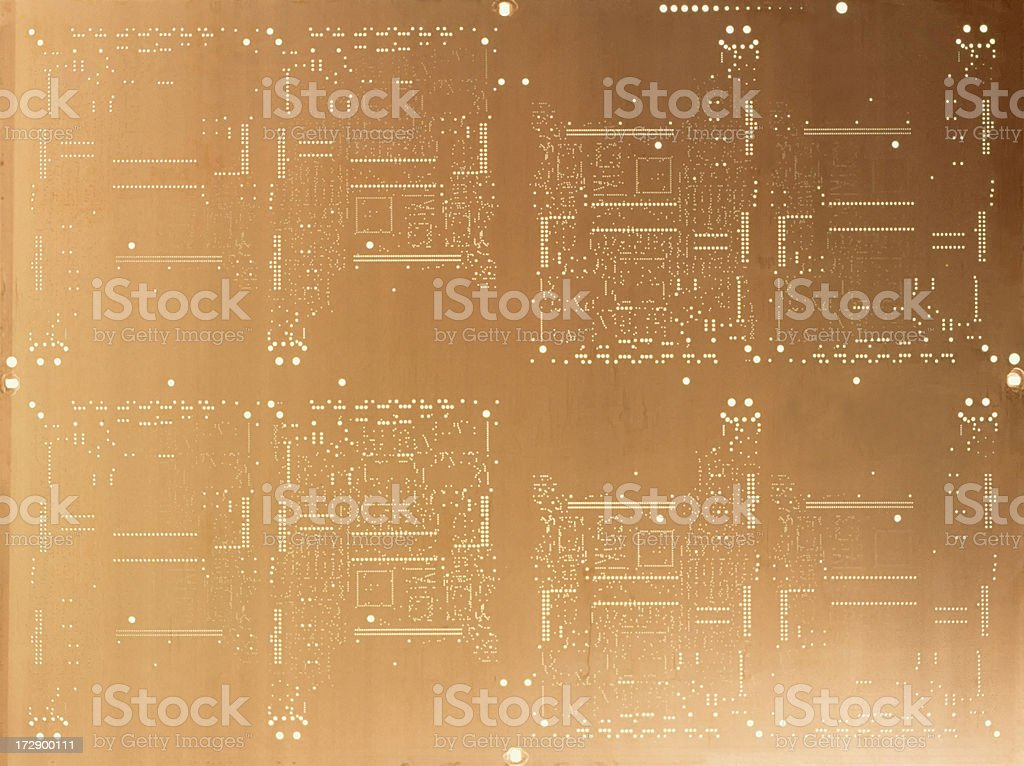 Vintage computer chip royalty-free stock photo