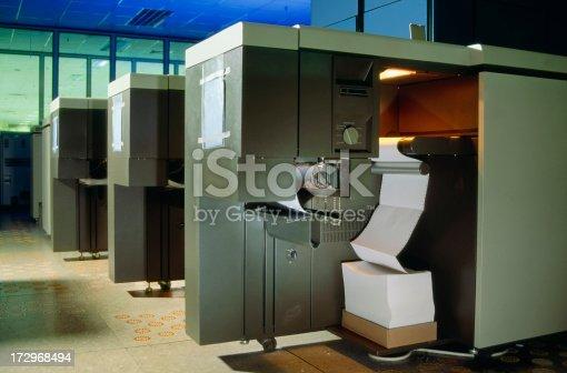 vintage computer room, printing