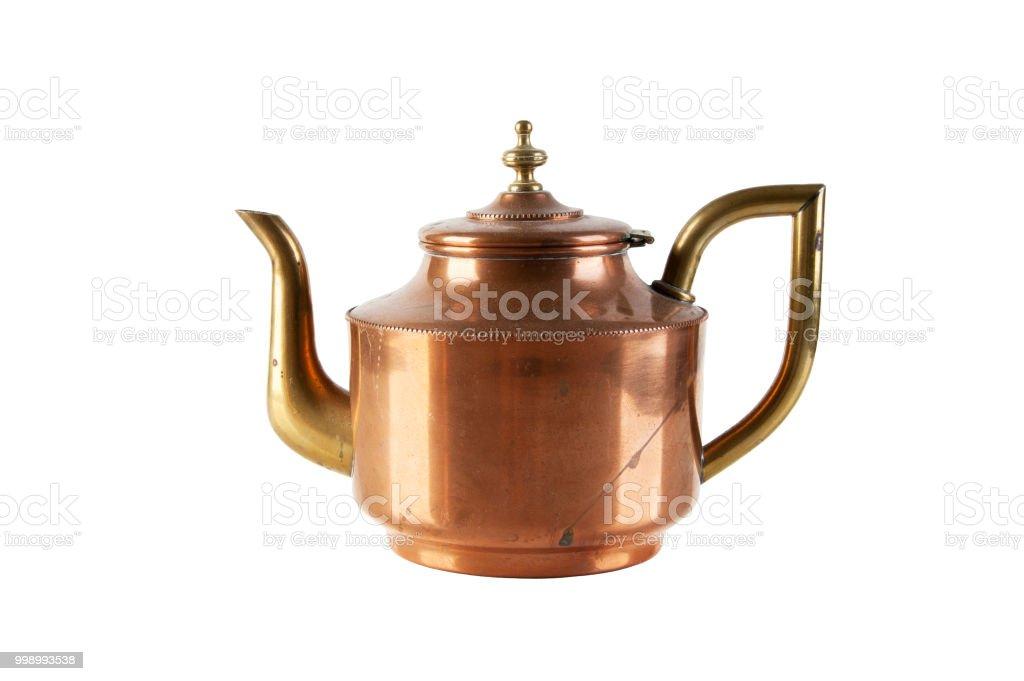 Vintage Kupfer Messing Teekanne Stockfoto Und Mehr Bilder Von Alt Istock