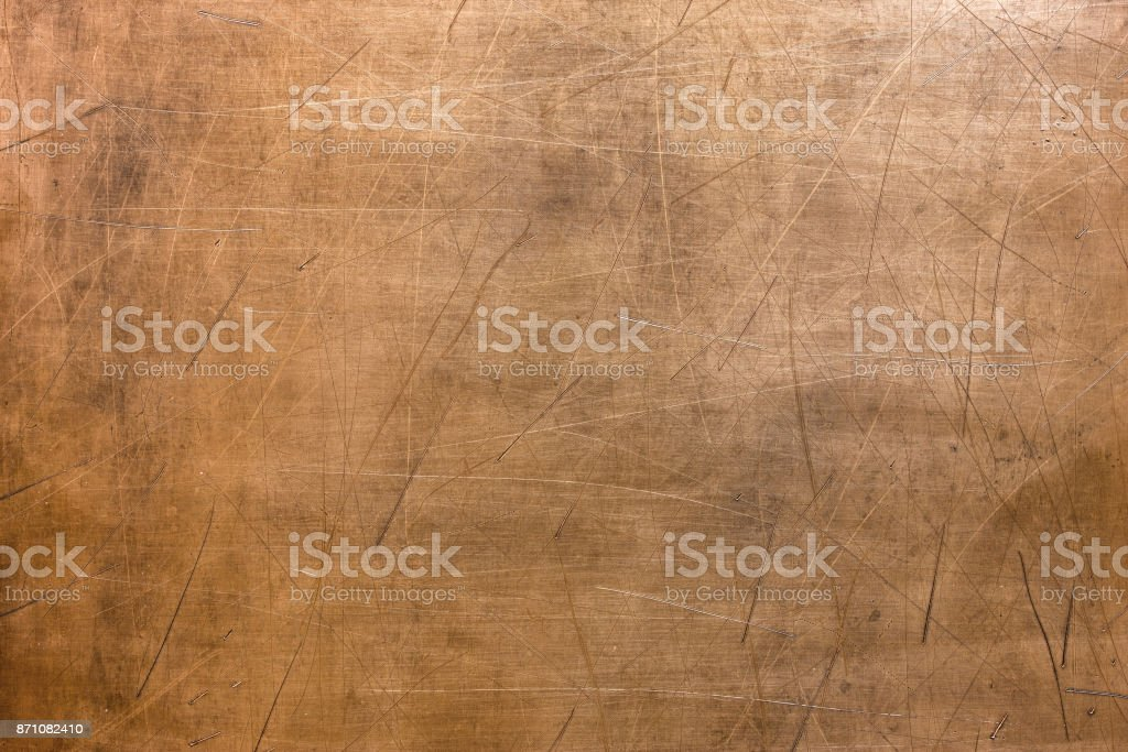 Vintage copper texture, bronze metal surface background stock photo