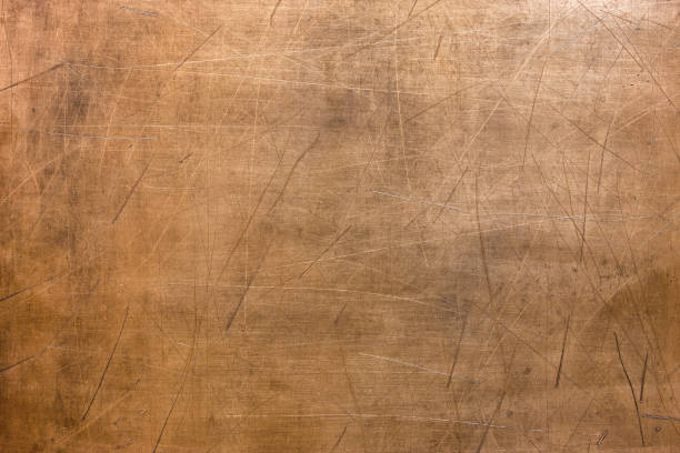 Vintage copper texture, bronze metal surface background stock photo