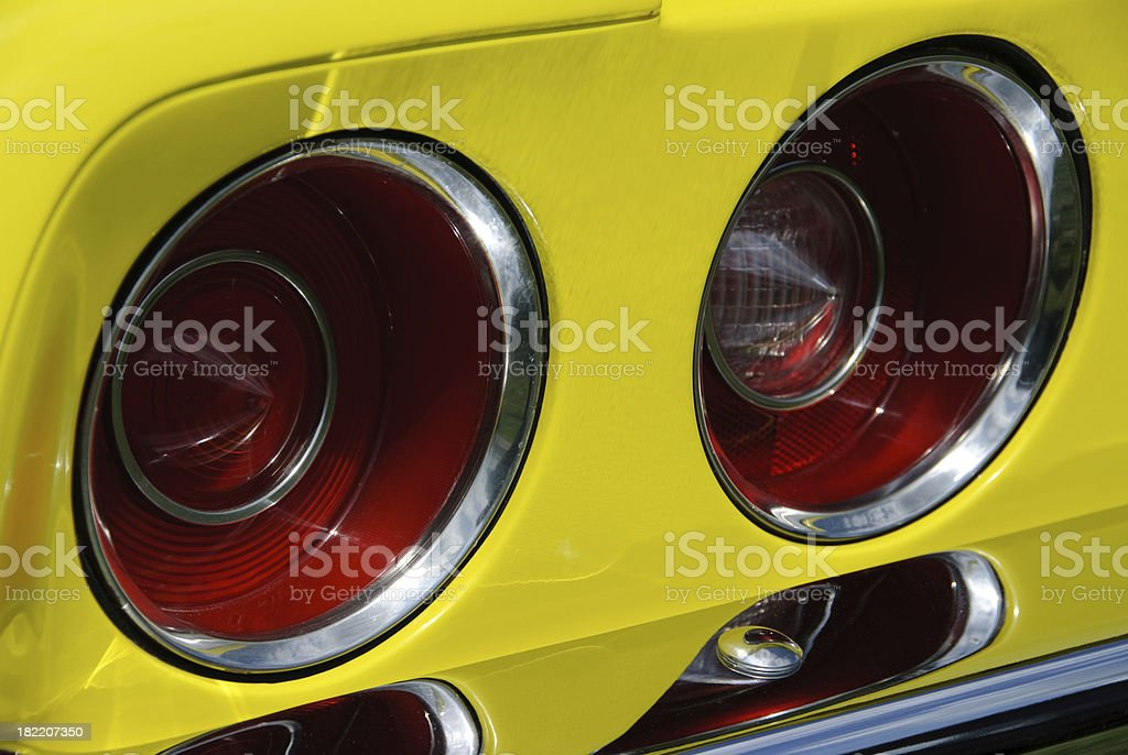 Vintage Corvette Car Tail Lights stock photo