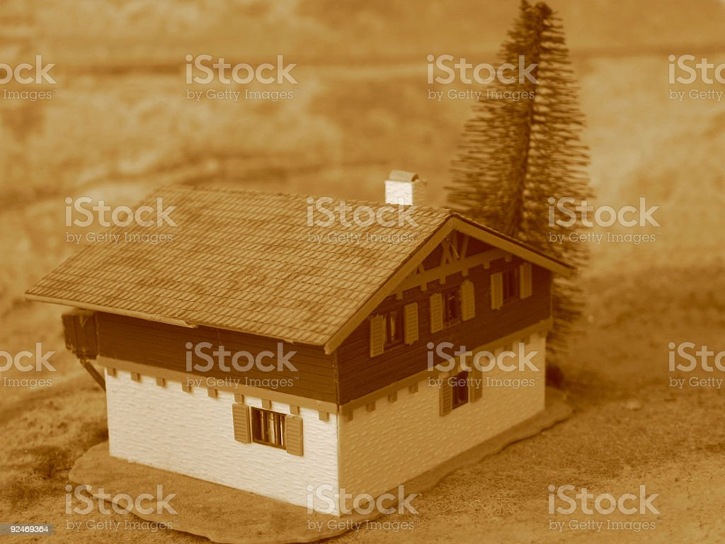 Vintage Cottage royalty-free stock photo