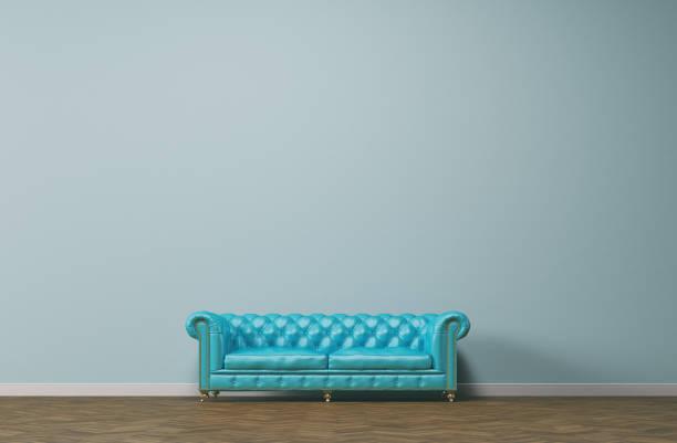 jahrgang sofa - sessel türkis stock-fotos und bilder