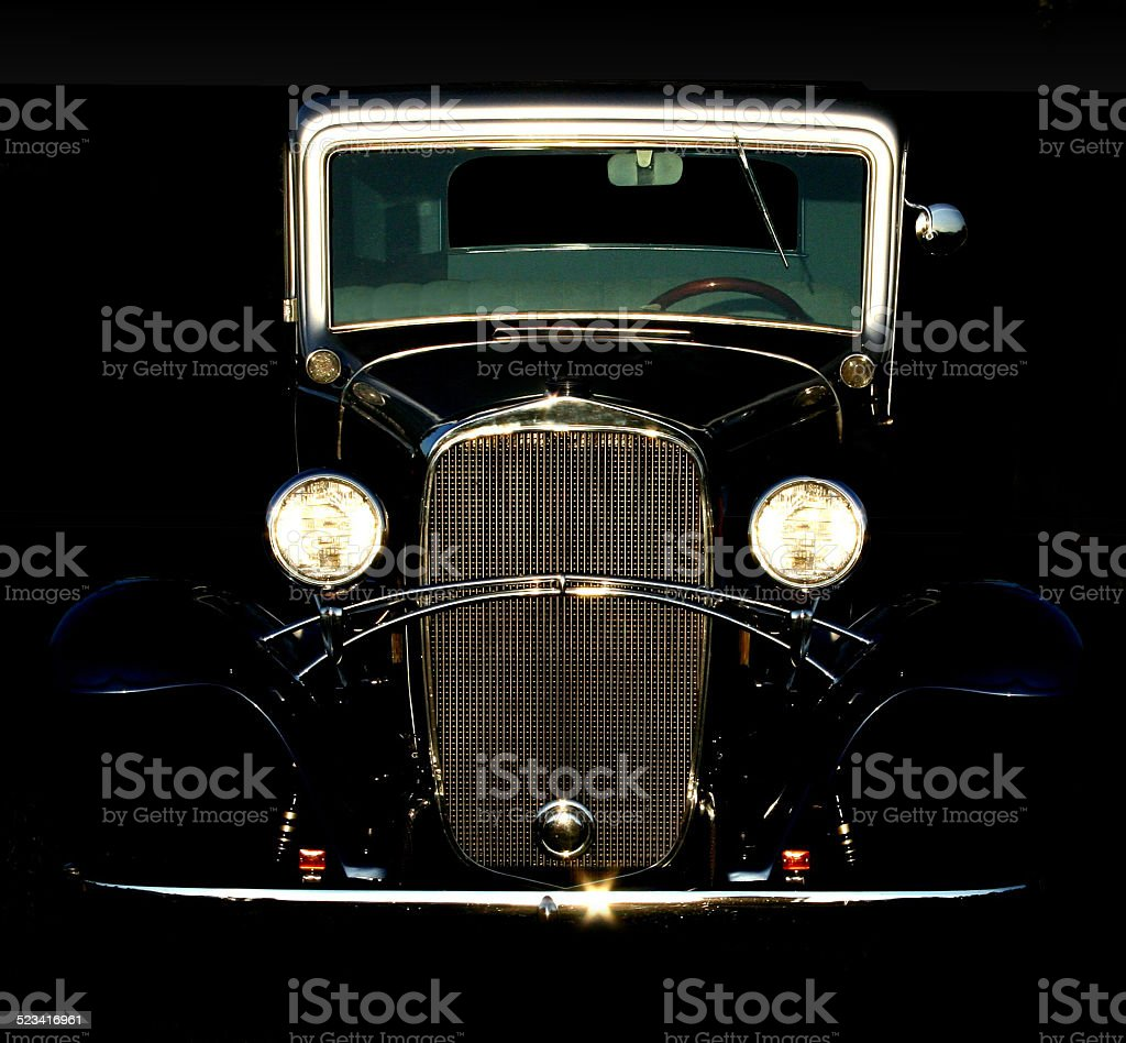 Vintage Coupe at Sunset stock photo