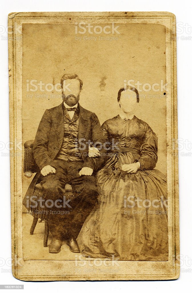 Vintage Couple royalty-free stock photo