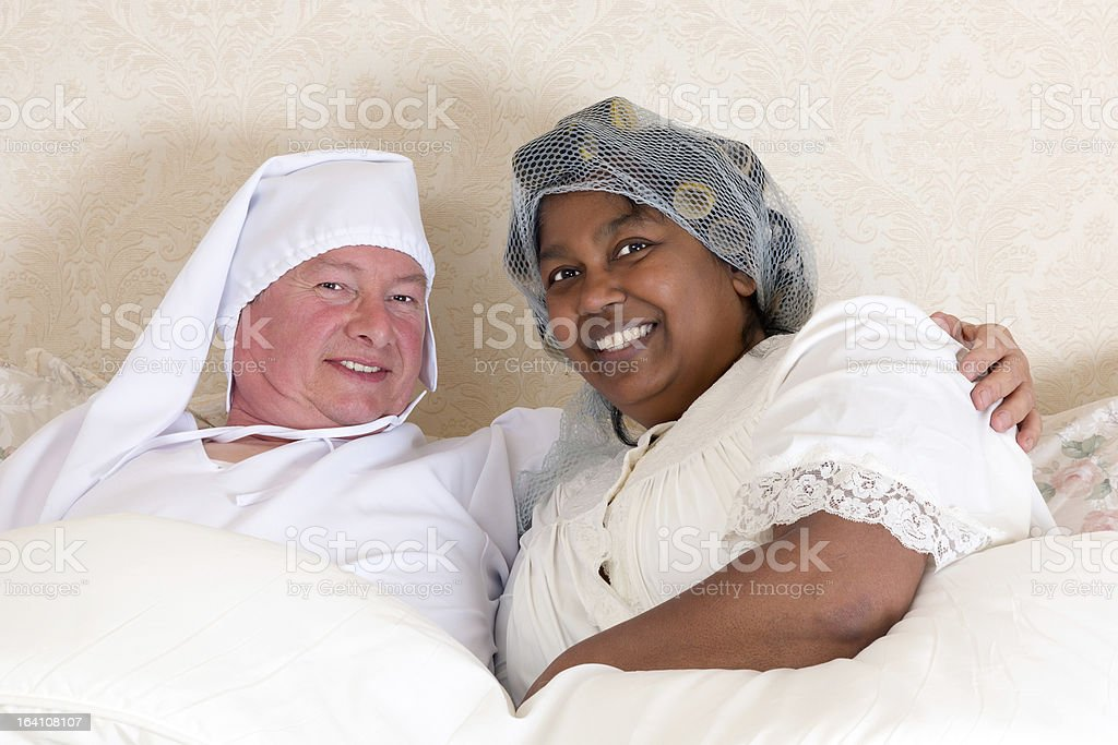 Vintage couple portrait royalty-free stock photo