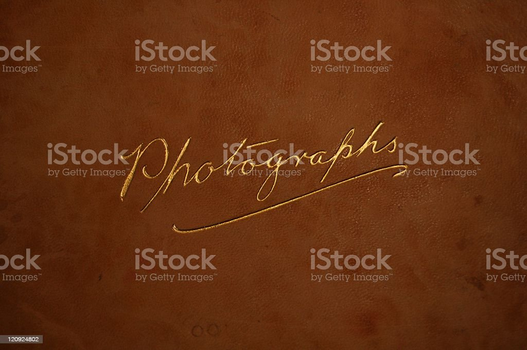 Vintage Cover for Photograph Album stock photo