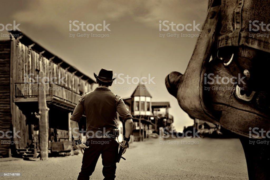 vaquero vintage foto de stock libre de derechos