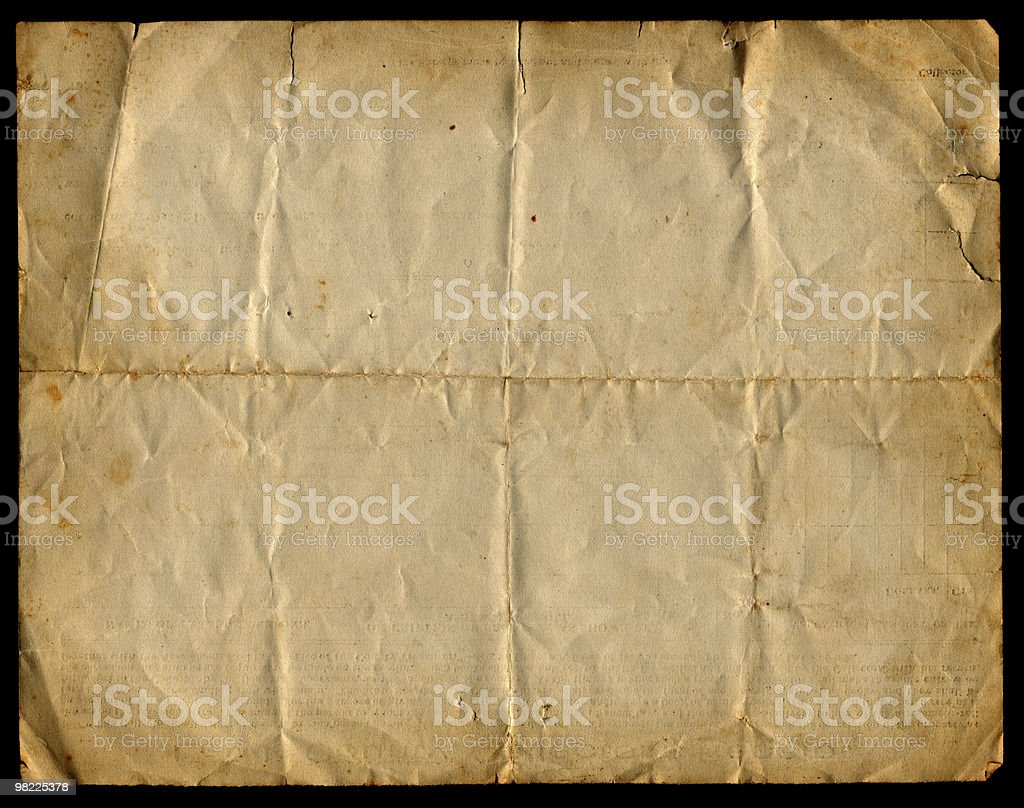 Vintage Creased Paper XXL royalty-free stock photo