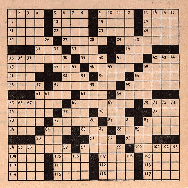 Vintage Crossword Puzzle XXL stock photo