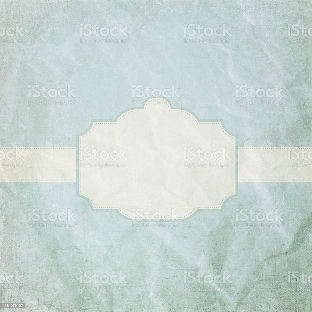 Vintage crumpled paper with frame royalty-free stock photo