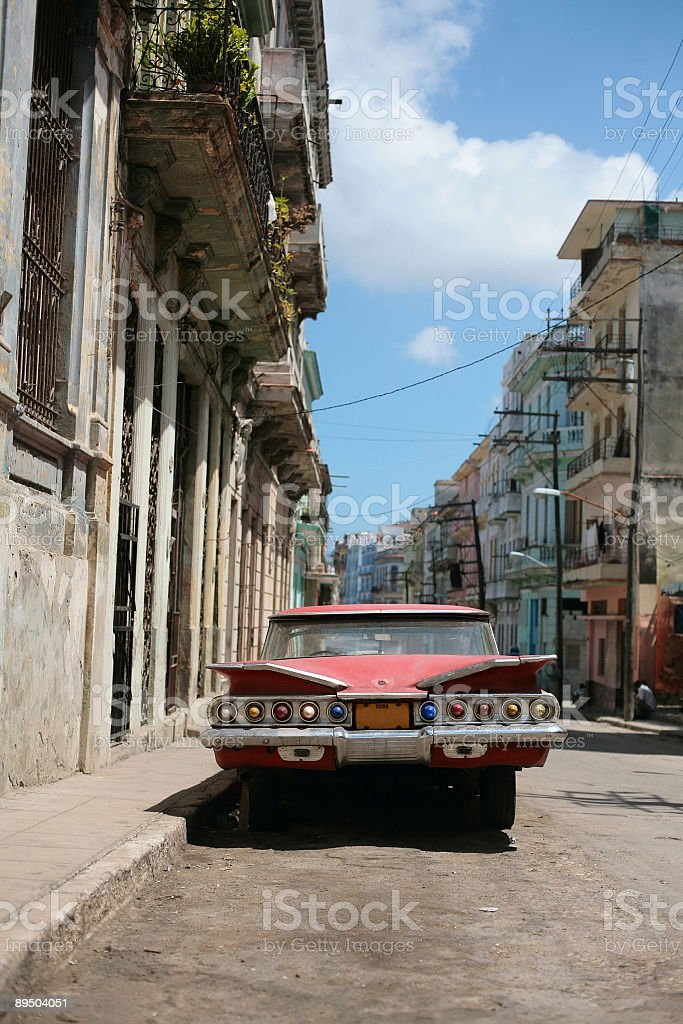 vintage cuban car royalty-free stock photo