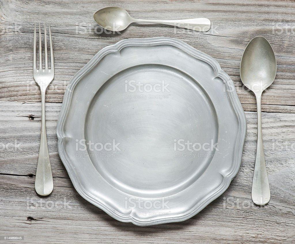 Vintage cutlery stock photo