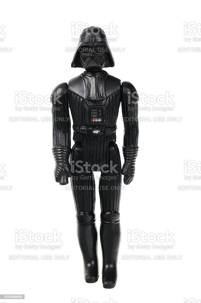 Vintage Darth Vader Action Figure stock photo