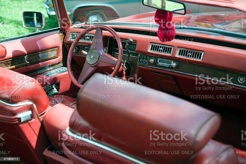 Vintage dashboard of Cadillac Fleetwood royalty-free stock photo