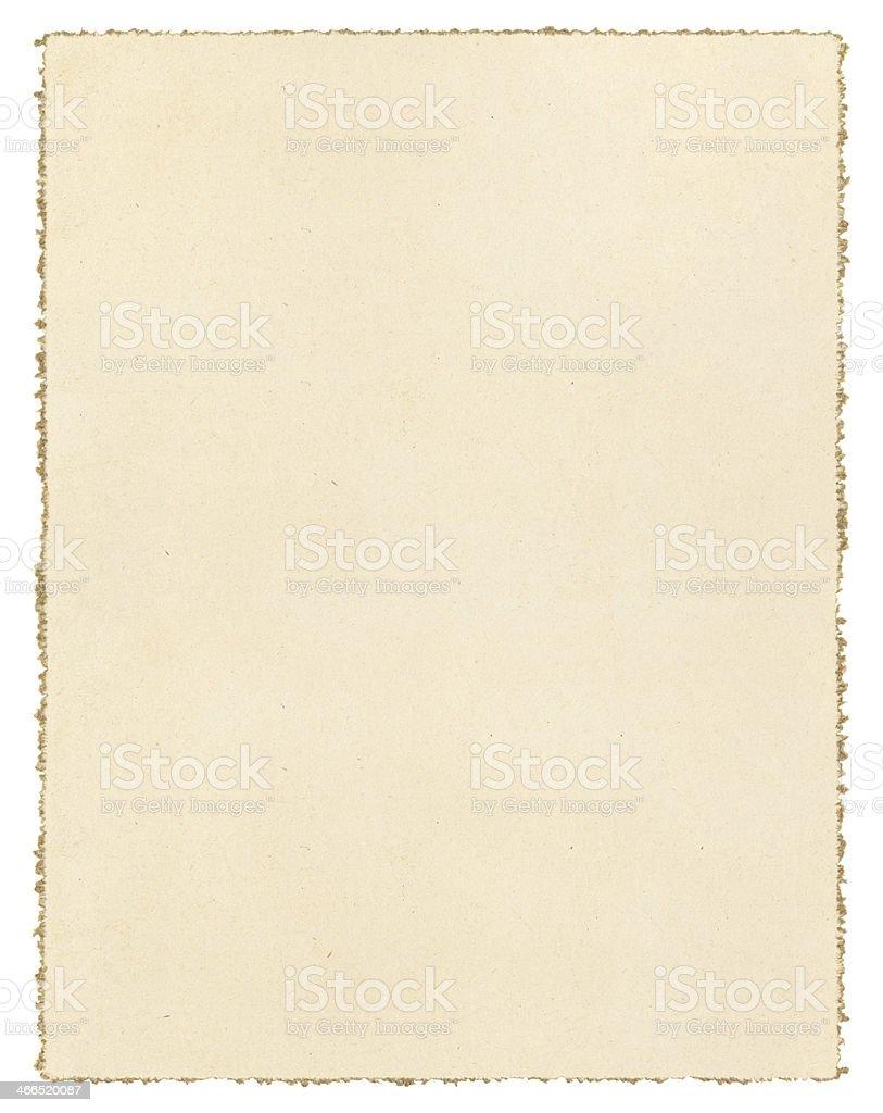 Vintage Deckled Paper stock photo