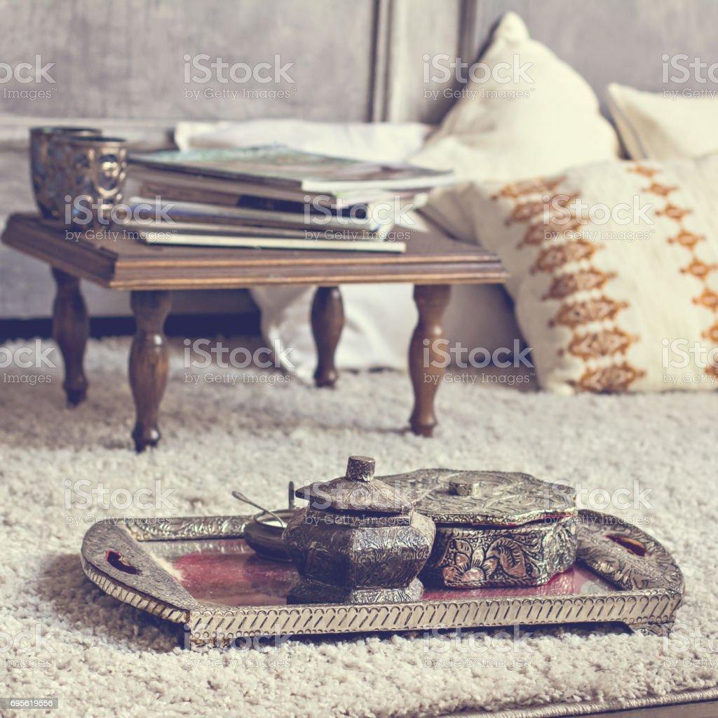 Vintage decoration in boho style. stock photo
