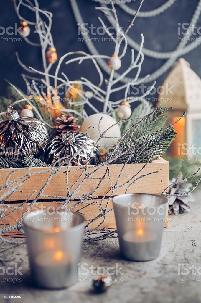 Vintage Decorations for Christmas and New Year Lizenzfreies stock-foto