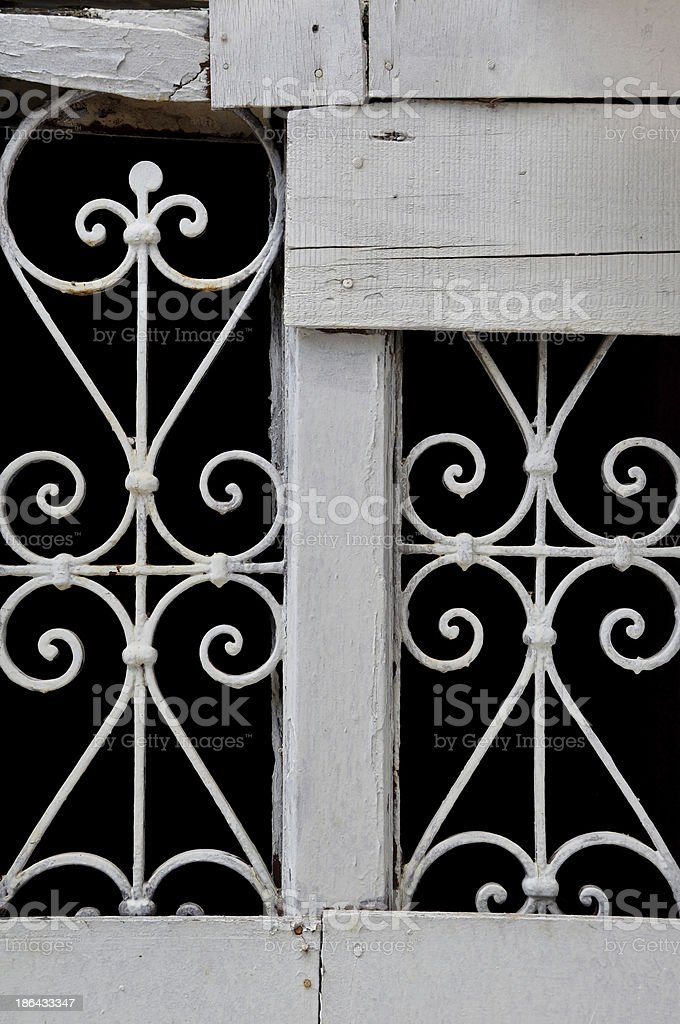 vintage decorative metal pattern royalty-free stock photo