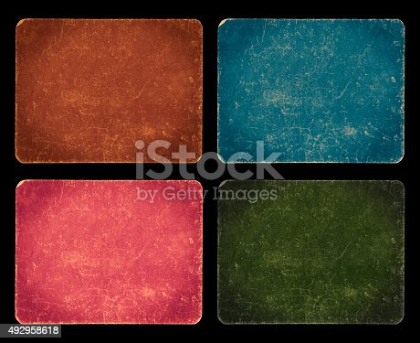 istock Vintage design set, grunge textured banners isolated with clipping path 492958618