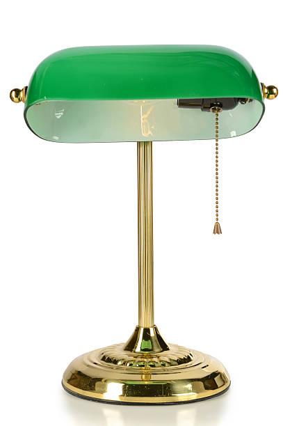 vintage-lampe - bürolampe stock-fotos und bilder