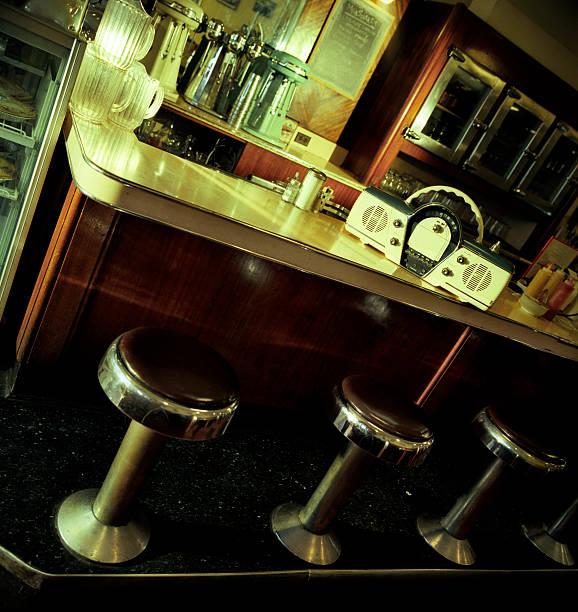 vintage-diner - chrome menü stock-fotos und bilder