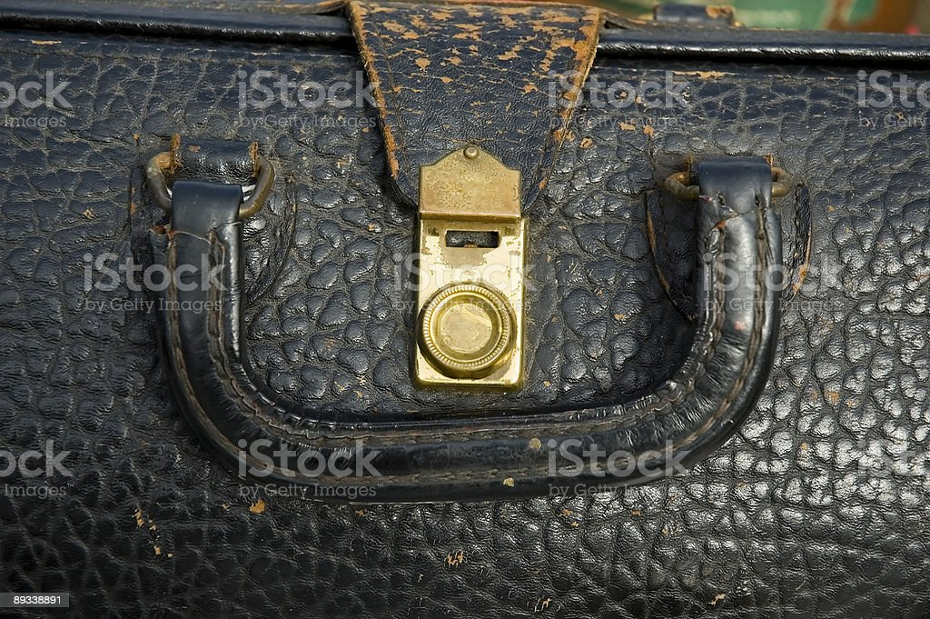 Vintage doctor bag stock photo